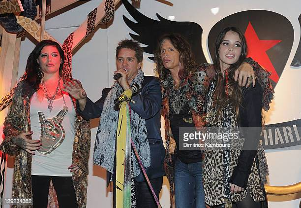Mia Tyler Andy Hilfiger musician Steven Tyler and Chelsea Tallarico attend the Andrew Charles fashion line launch at Macy's Herald Square on October...