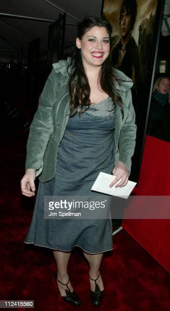Mia Tyler during The Lord of The Rings The Two Towers Premiere New York at Ziegfeld Theatre in New York City New York United States