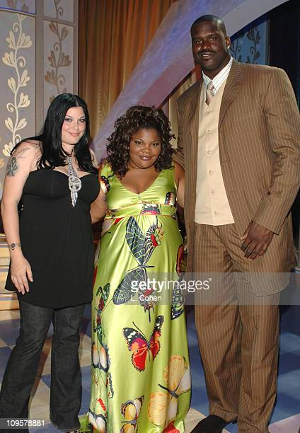 Mia Tyler plus size supermodel Mo'Nique and Judge Shaquille O'Neal at the taping of Mo'Nique's Fat Chance The show will premiere on the Oxygen