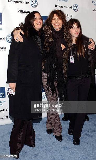 Mia Tyler Steven Tyler and Chelsea Tyler during Arrivals for The Salute To The Blues Concert at Radio City Music Hall in New York NY United States