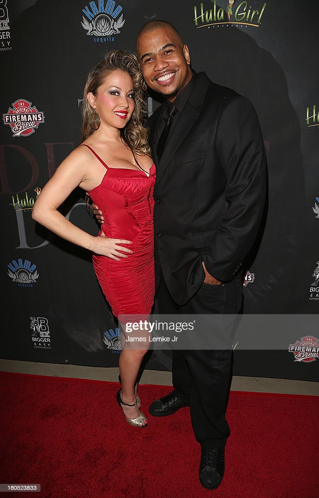 Mia Vogel and Omar Gooding attend 'The Devil's Dozen' Special Screening on February 1, 2013 in Los Angeles, California.