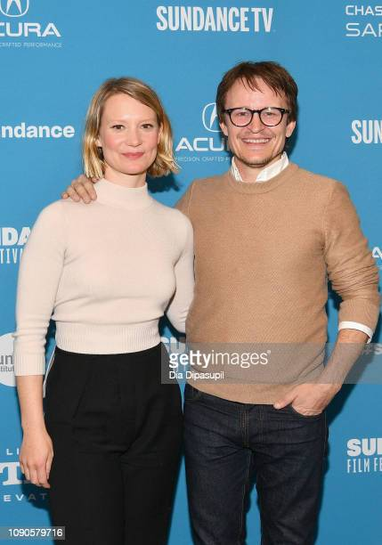 """Mia Wasikowska and Damon Herriman attend the Judy & Punch"""" Premiere during the 2019 Sundance Film Festival at The Ray on January 27, 2019 in Park..."""