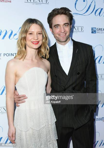 Mia Wasikowska and Robert Pattinson attend Magnolia Pictures' 'Damsel' Premiere at ArcLight Hollywood on June 13 2018 in Hollywood California