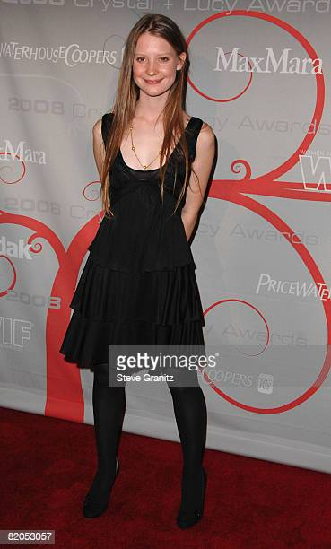 Mia Wasikowska arrives at The 2008 Crystal Lucy Awards 'A Black And White Gala' on June 17 2008 at the Beverly Hilton Hotel in Beverly Hills...