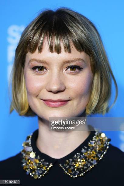 Mia Wasikowska arrives at the Australian premiere of 'Stoker' at the State Theatre on June 7 2013 in Sydney Australia