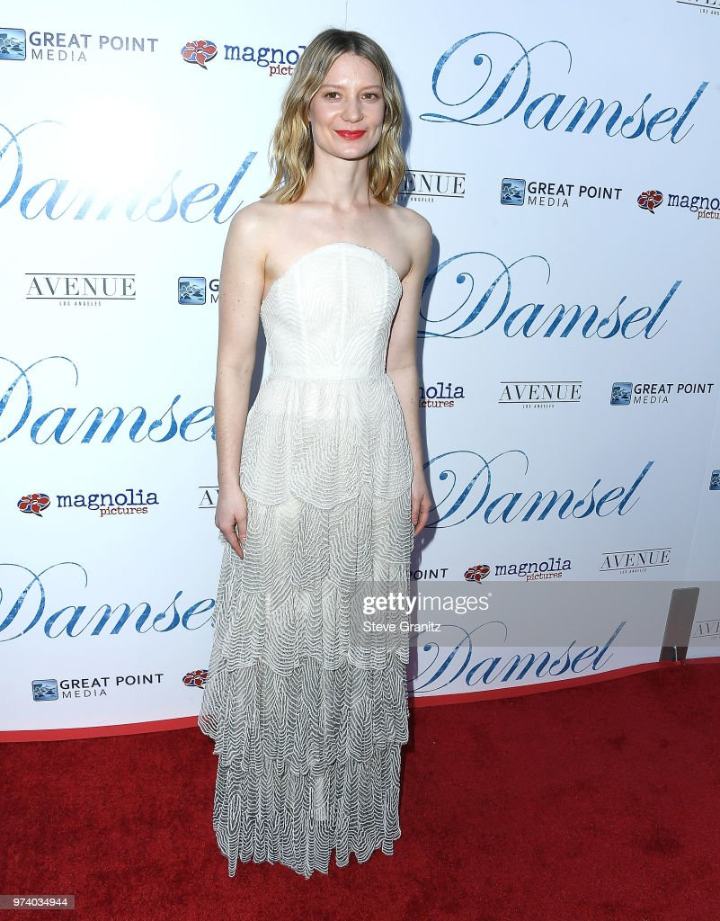 Mia Wasikowska arrives at the Magnolia Pictures' 'Damsel' Premiere at ArcLight Hollywood on June 13, 2018 in Hollywood, California.