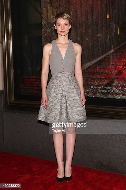 Mia Wasikowska attends a celebration of Bergdorf Goodman Windows inspired by the Legendary Pictures and Universal Pictures film 'Crimson Peak' at...