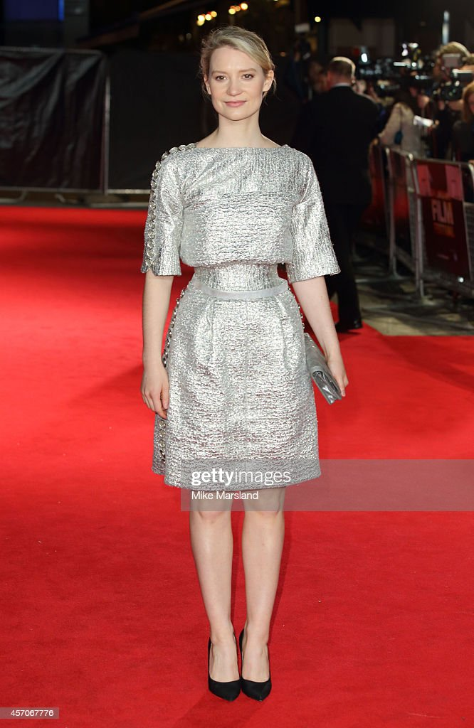 Mia Wasikowska attends a screening of 'Madame Bovary' during the 58th BFI London Film Festival at Odeon West End on October 11, 2014 in London, England.