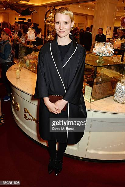 Mia Wasikowska attends Fortnum Mason's postpremiere party for new release Alice Through the Looking Glass at Fortnum Mason on May 10 2016 in London...