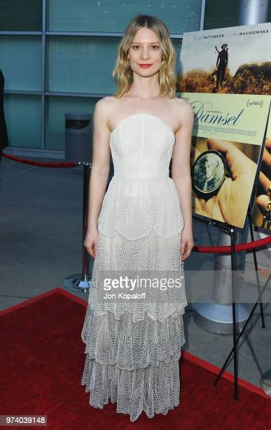 Mia Wasikowska attends Magnolia Pictures' 'Damsel' Premiere at ArcLight Hollywood on June 13 2018 in Hollywood California
