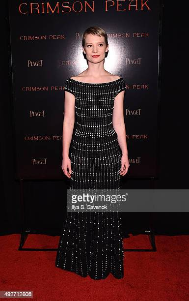 Mia Wasikowska attends Piaget CoHosts The Crimson Peak Premiere on October 14 2015 in New York City