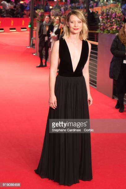 Mia Wasikowska attends the 'Damsel' premiere during the 68th Berlinale International Film Festival Berlin at Berlinale Palast on February 16 2018 in...
