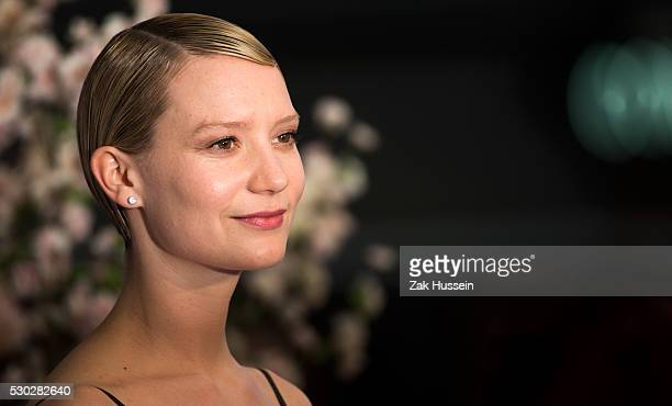 Mia Wasikowska attends the European Film Premiere of Alice Through The Looking Glass at Odeon Leicester Square on May 10 2016 in London England