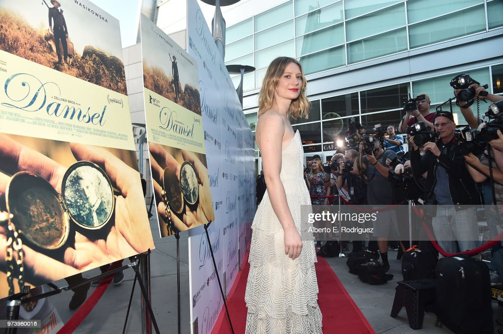 Mia Wasikowska attends the premiere of Magnolia Pictures' 'Damsel' at ArcLight Hollywood on June 13, 2018 in Hollywood, California.