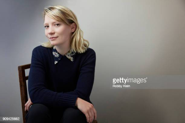Mia Wasikowska from the film 'Piercing' poses for a portrait at the YouTube x Getty Images Portrait Studio at 2018 Sundance Film Festival on January...