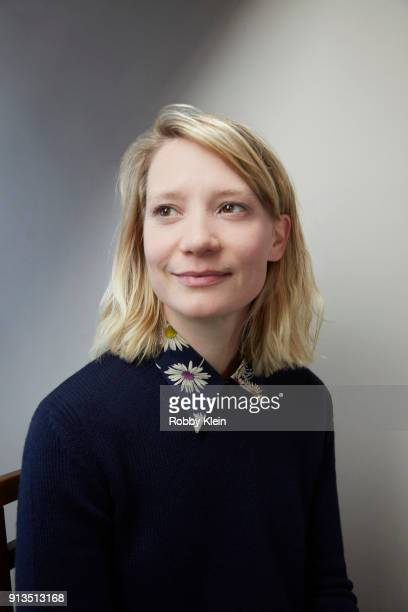Mia Wasikowska from the film 'Piercing' poses for a portrait in the YouTube x Getty Images Portrait Studio at 2018 Sundance Film Festival on January...