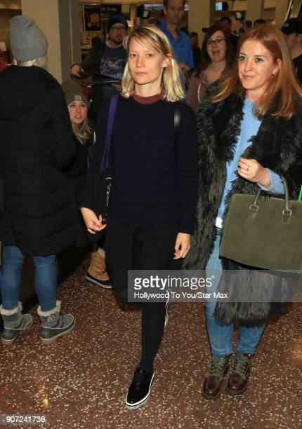 Mia Wasikowska is seen on January 19 2018 in Salt Lake City Utah