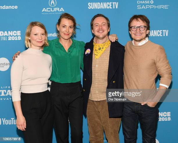 """Mia Wasikowska, Mirrah Foulkes, Tom Budge and Damon Herriman attend the Judy & Punch"""" Premiere during the 2019 Sundance Film Festival at The Ray on..."""