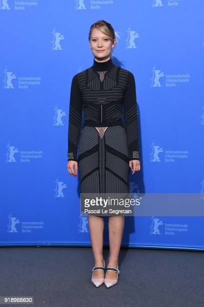 Mia Wasikowska poses at the 'Damsel' photo call during the 68th Berlinale International Film Festival Berlin at Grand Hyatt Hotel on February 16 2018...