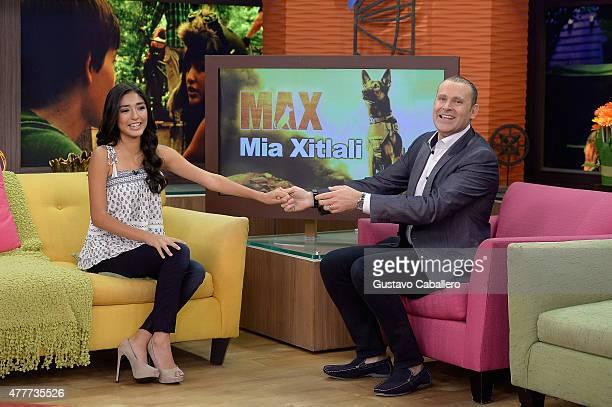 Mia Xitlali and Alan Tacher apperas on the set of Despierta America to promote film Max at Univision Studios on June 19 2015 in Miami Florida