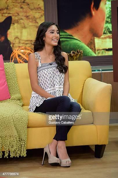 Mia Xitlali apperas on the set of Despierta America to promote film Max at Univision Studios on June 19 2015 in Miami Florida