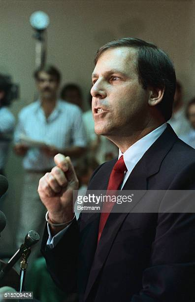 Attorney Leon Kellner announces the indictment of Panamanian strongman Gen Manuel Antonio Noriega on charges of accepting millions in bribes to help...