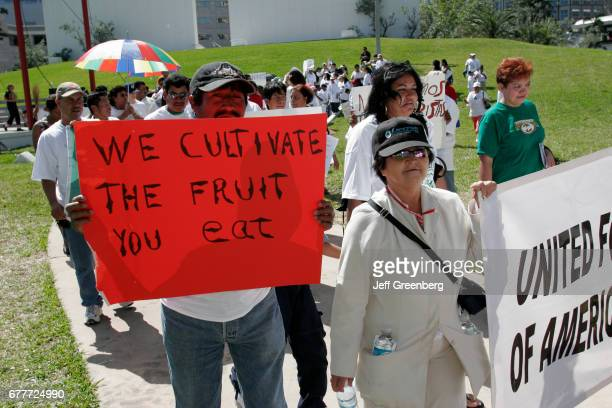 Miami, Bayfront Park, immigrants rights protest.