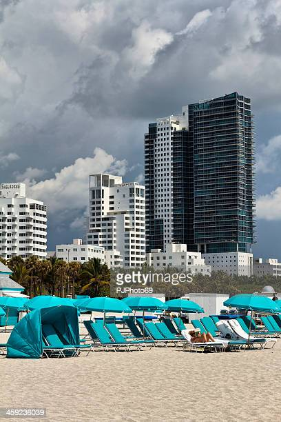 miami beach et des appartements - pjphoto69 photos et images de collection