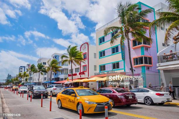 miami beach, art deco district - florida (us) - south beach stock pictures, royalty-free photos & images
