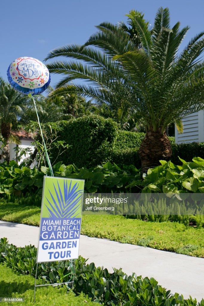 Miami Beach Botanical Garden, Garden Tour sign on East Dilido Drive ...