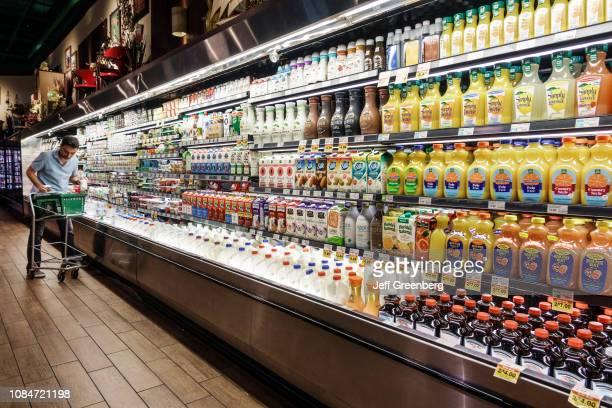 Miami Beach Fresh Market supermarket refrigeration juices