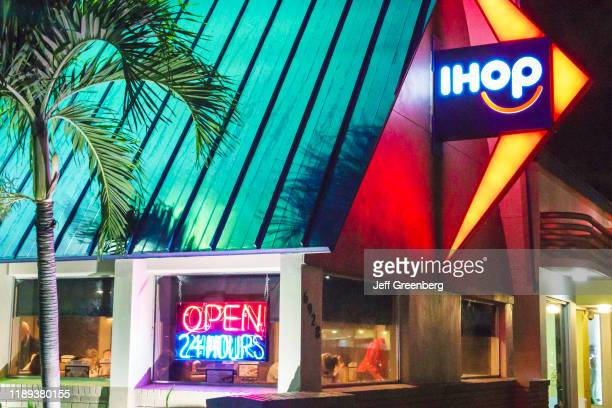 Miami Beach IHOP International House of Pancakes at night