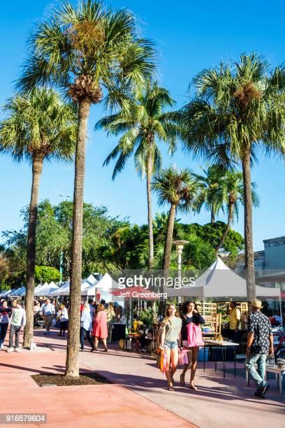 Miami Beach, Lincoln Road, Antique and collectible market.