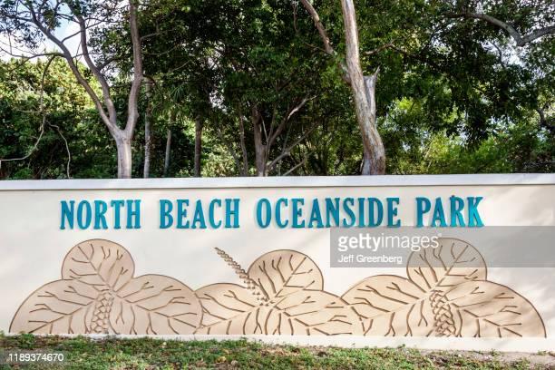 Miami Beach North Beach Oceanside Park entrance sign