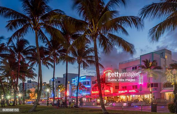Miami Beach. Ocean Drive at night