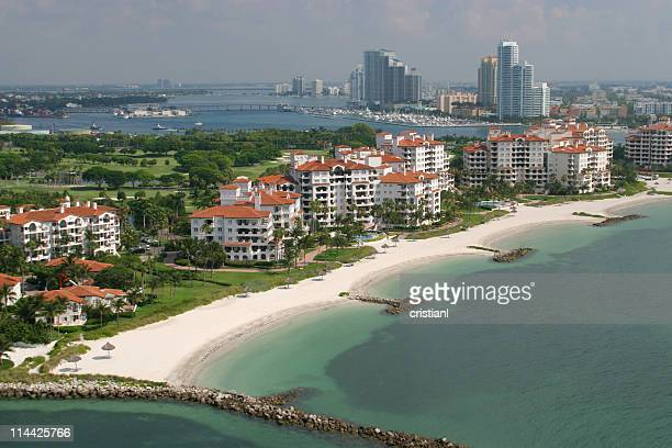 miami beach - fisher island stock pictures, royalty-free photos & images