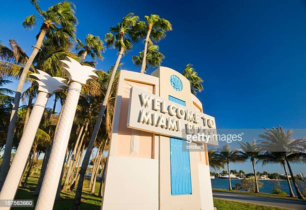 miami beach - art deco stock pictures, royalty-free photos & images