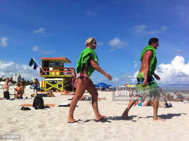 miami beach - lincoln road stock pictures, royalty-free photos & images