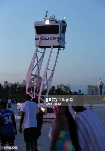 Miami Beach Police Department dispatched 301 officers to perform surveillence from elevated booths sea and air vessels and allterrain vehicles to...