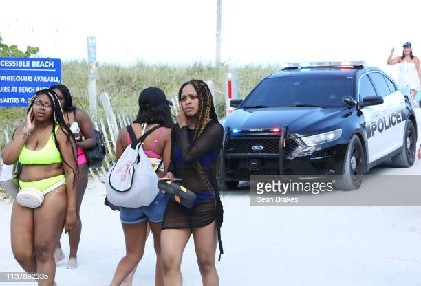 Miami Beach Police Department erected barricades and dispatched 301 officers to deter misconduct as thousands of college students and nonstudents...