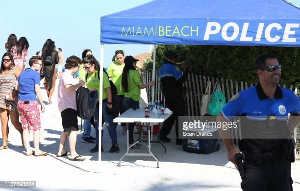 Miami Beach Police Department installed check points to access Miami Beach as thousands of college students and nonstudents attend Spring Break...