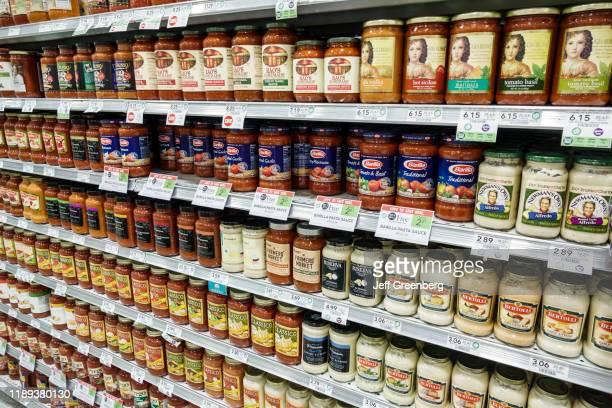 Miami Beach Publix grocery store pasta sauce aisle