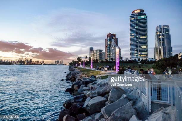 Miami Beach South Pointe Park at Dusk