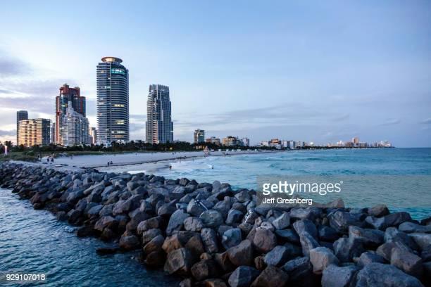Miami Beach South Pointe Park Jetty Dusk