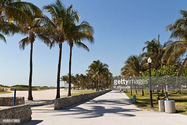 miami beach - the promenade on ocean drive - pjphoto69 stock pictures, royalty-free photos & images