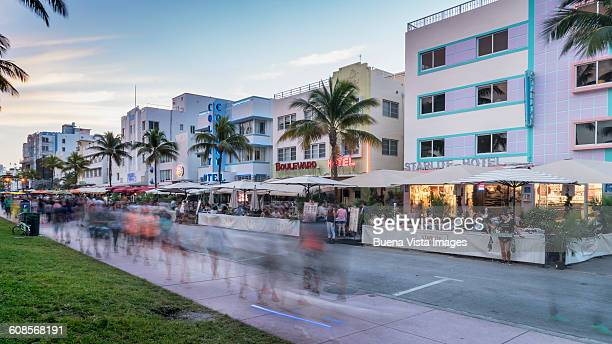 Miami Beach. View of Ocean Drive.