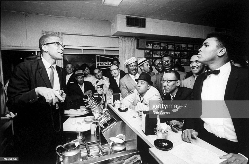 Cassius Clay And Malcolm X : Foto jornalística