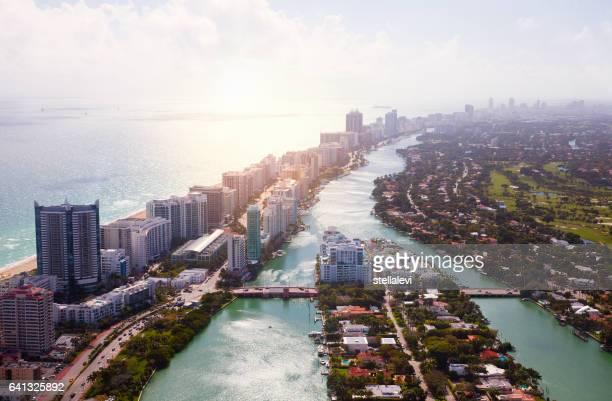 Miami Coastline Aerial View