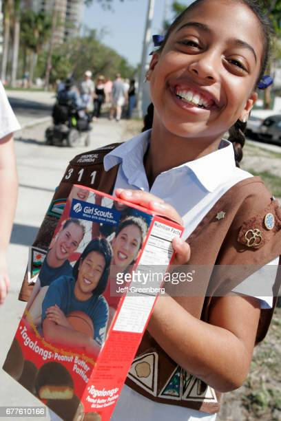 Miami Coconut Grove Arts Festival Girl Scout Selling Cookies