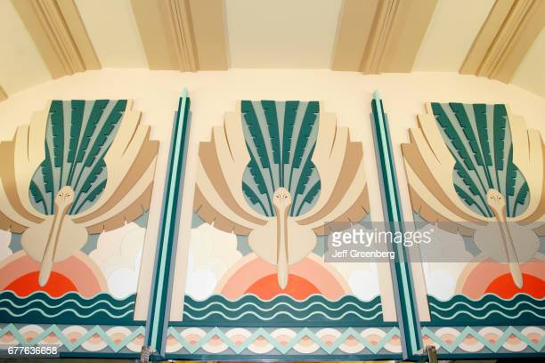 Miami, Colony Theatre, Art-Deco style interior.